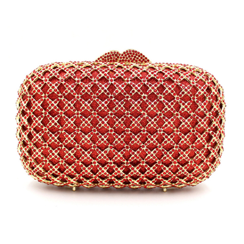 Femmes En Mode D'embrayage Rouge Partie Soirée Sac Métal À Main Dames Embrayages Sacs Femelle Cristal Diamants De Xiyuan Mariage Mini vwgqwRBI