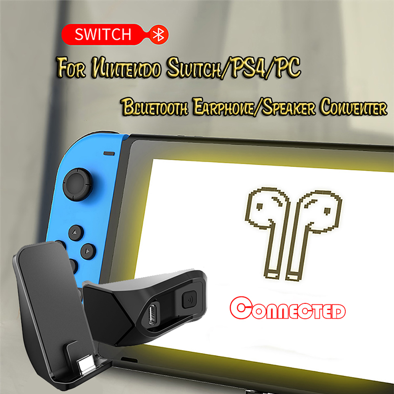 For Nintendo Switch Bluetooth Headset Receiver Bluetooth Speaker Adapter Receiver PC Audio Conventer For PlayStation 4 Console