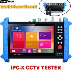 IPCX all-in-one CCTV Tester monitora wielofunkcyjny 7 cal wyświetlacz IPC Tester H.265 4 K IP 8MP TVI CVI AHD SDI CVBS OPM VFL POE
