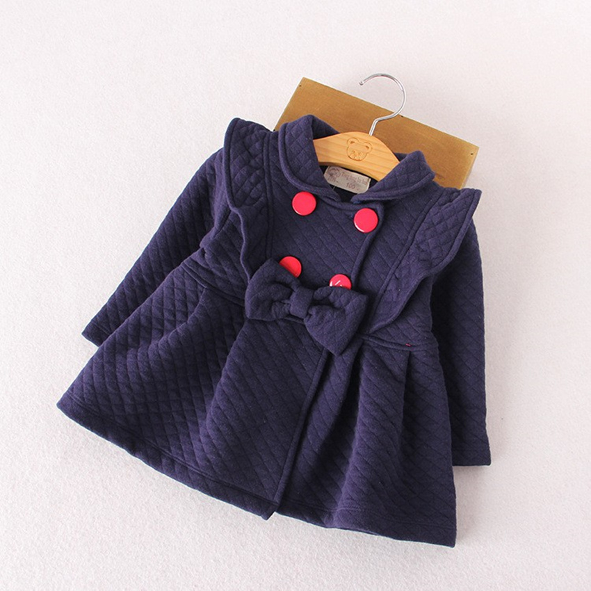 Kids Girls Outerwear & Coats Red blue Cotton tops Girl christmas - Children's Clothing - Photo 1