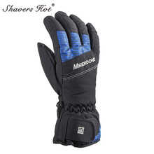 Men's Ski Gloves Fleece Snow Snowboard Gloves Snowmobile Motorcycle Riding Winter Gloves Windproof Waterproof Unisex Snow Gloves