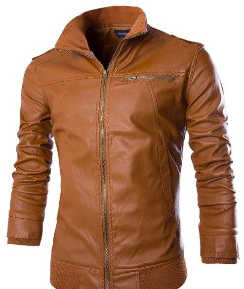 Для мужчин PU Куртки Пальто для будущих мам мотоциклетные Кожаные куртки Для мужчин осень-весна кожа Костюмы мужские повседневные пальто Ко...