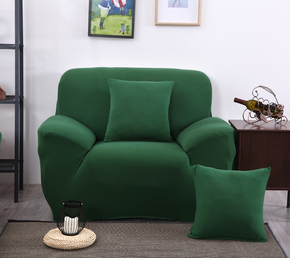 LFH New Green Color Spandex Sofa <font><b>Cover</b></font> Furniture Protector Slipcovers Sofa tight wrap elastic sofa <font><b>Cover</b></font>/towel Four Styles