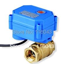 "DC3-6V motorized ball valve 2 way  BSP 1/2"" brass valve 2/3/5 wires"
