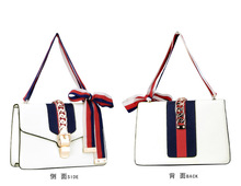 Women's Genuine Leather  Lambskin Sheep Leather Cross Body Organizer Bag, 2016 fashion shoulder handbag for lady , free shipping