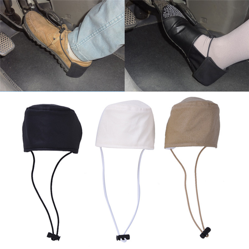 1 PC Unisex Car Driving Prevent Wear Shoes Heel Protection Cover Wear Resistant Fabric Black White Khaki CHIZIYO