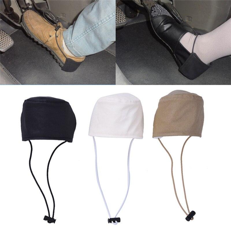 1 PC unisexe voiture conduite prévenir porter chaussures talon Protection couverture résistant à l'usure tissu noir blanc kaki CHIZIYO