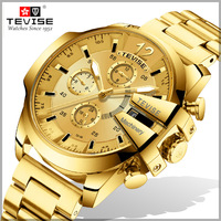 Tevise Watch Men Automatic Mechanical Watches Male Sport Luxury Brand Watches Self Wind Waterproof Gold Clock Relogio Masculino