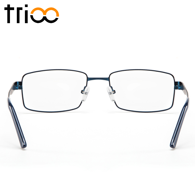 Image 3 - TRIOO Metal Blue Reading Prescription Mens Glasses Graduate Computer Myopia Degree Eye Glasses Square Astigmatism Spectacles-in Men's Prescription Glasses from Apparel Accessories