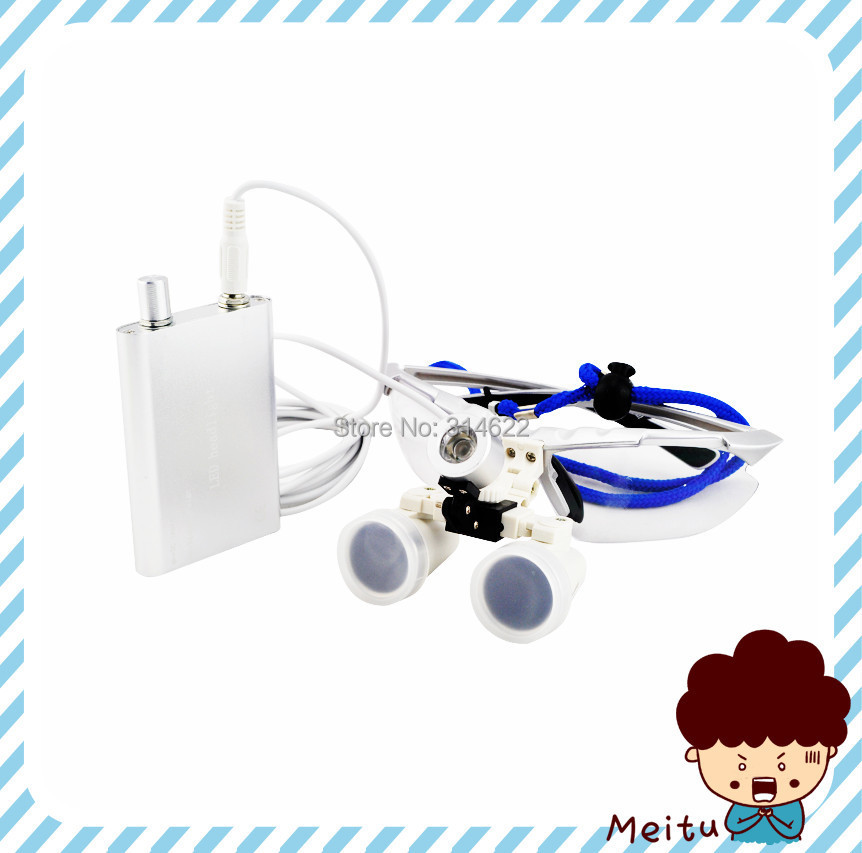 High Quality Silver magnifying glass 3 5X420 Medical Surgical loupes Dental Loupes medical loupes head loupes