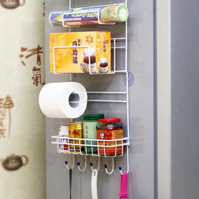 Refrigerator Side Storage Rack For Kitchen Storage Wrap Rack Organizer