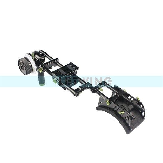 Kit de plate-forme dépaule à poignée unique Lanparte avec mise au point pour 5D2 7D DSLR caméra vidéo