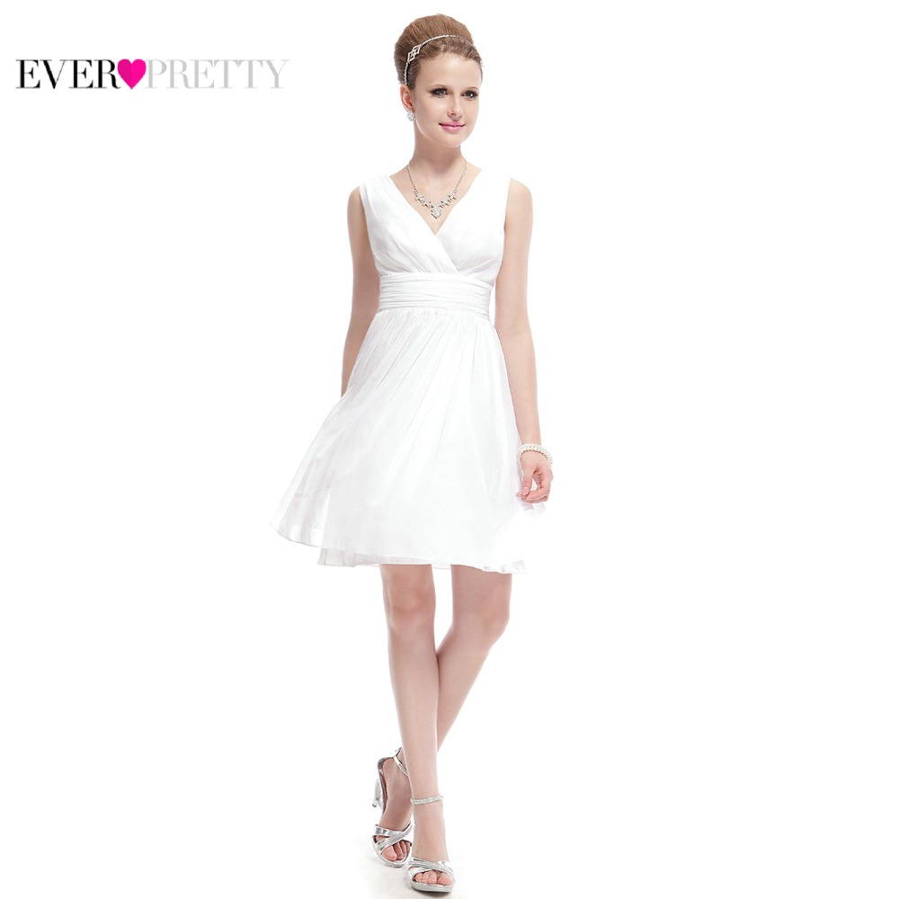 Ever-Pretty Women's New Elegant   Bridesmaid     Dresses   EP03989 V-neck Short Wedding Guest Maid of Honor   Dresses   for Women