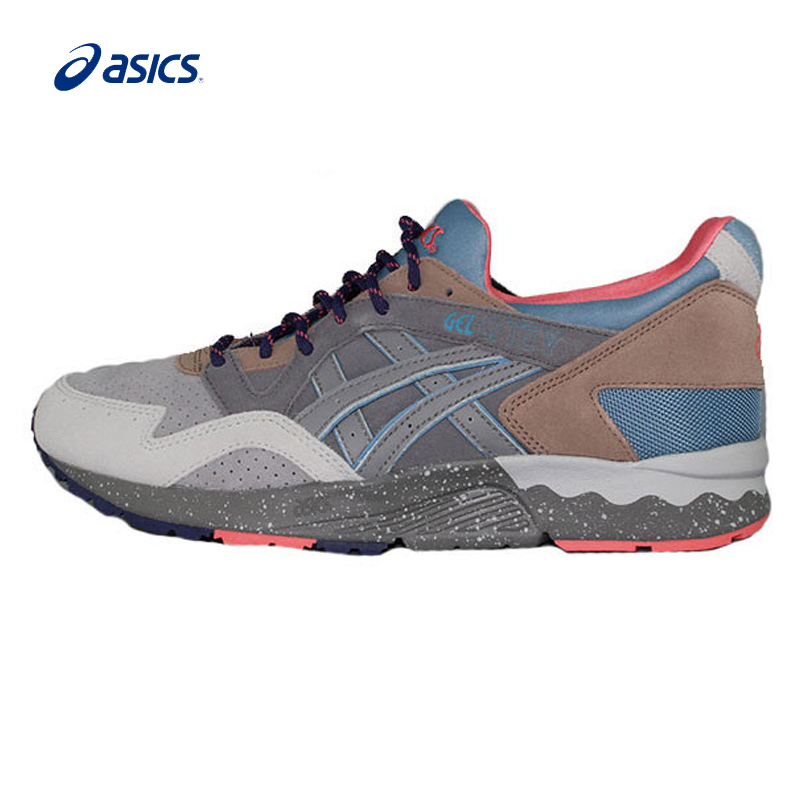 Original ASICS Tiger GEL-LYTE V Men's Stability Running Shoes Breathable Sports Shoes Sneakers  Leisure Retro buffer classic asics tiger gel lyte iii lc