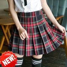 Female school uniform skirt  New Style Japanese College Wind Student Skirt Uniforms School Uniform Plaid