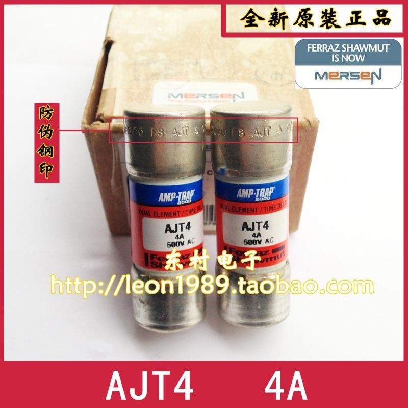MERSEN smart spot Fuse Amp-Trap fuses AJT4 4A 600V 27 * 51mm [sa]roland ferraz mersen fuses amp trap fuse atqr10 10a 600v 5pcs lot