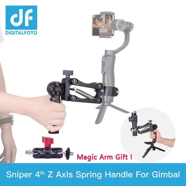 Sniper Primavera Singola maniglia asse Z per DJI OSMO TASCA/2 ZHIYUN Liscia 4 per Smartphone e Macchina Fotografica di Azione cardano stabilizzatore