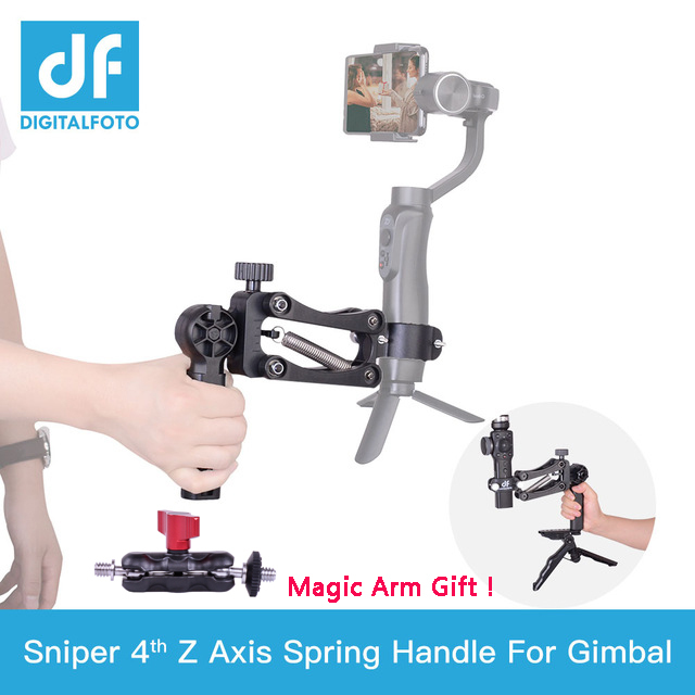 Sniper Spring Single handle Z axis for DJI OSMO POCKET/2 ZHIYUN Smooth 4 for Smartphone & Action Camera Gimbal stabilizer