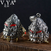 V.YA Vintage Thailand 925 Thai Silver Pendant Ring for Men Male S925 Sterling Silver Jewelry Mens Ring High Quality