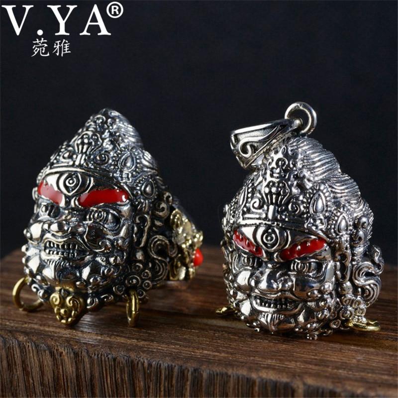 V. YA Vintage thaïlande 925 Thai argent pendentif bague pour hommes mâle S925 bijoux en argent Sterling hommes anneau de haute qualité