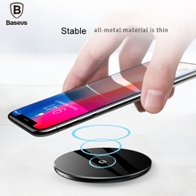 Baseus 10W QI Wireless charger fast wireless charging pad For iPhone X 8 7 Samsung Galaxy S9 S8 note8  mobile phone charger pad все цены