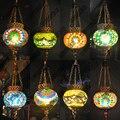 Марокканский турецкий стиль ретро винтажный подвесной светильник E27 основа Средиземноморский стиль украшение Мозаика Подвесная лампа