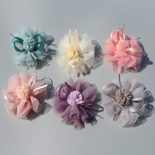 120ps/lot spring Style 8CM gauze Flower for kids Headress Hair Accessories handmade Flowers headband garment accessories