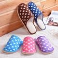 New Home Slippers 2017 Winter Cotton Plush Warm Home Indoor Slipper Heart Printed Boys Girls Children Floor Soft Slippers Shoes