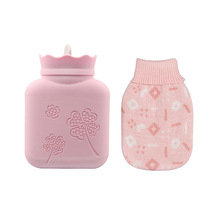 Silicone hot water bottle, hot and cold dual-use mini microwave heating, round square warm water bag hand warmers недорого
