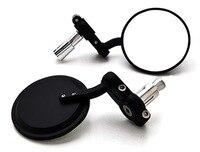 Brand New Black Carbon Fiber 7 8 Bar End Mirrors Round 3 For Suzuki DR 100