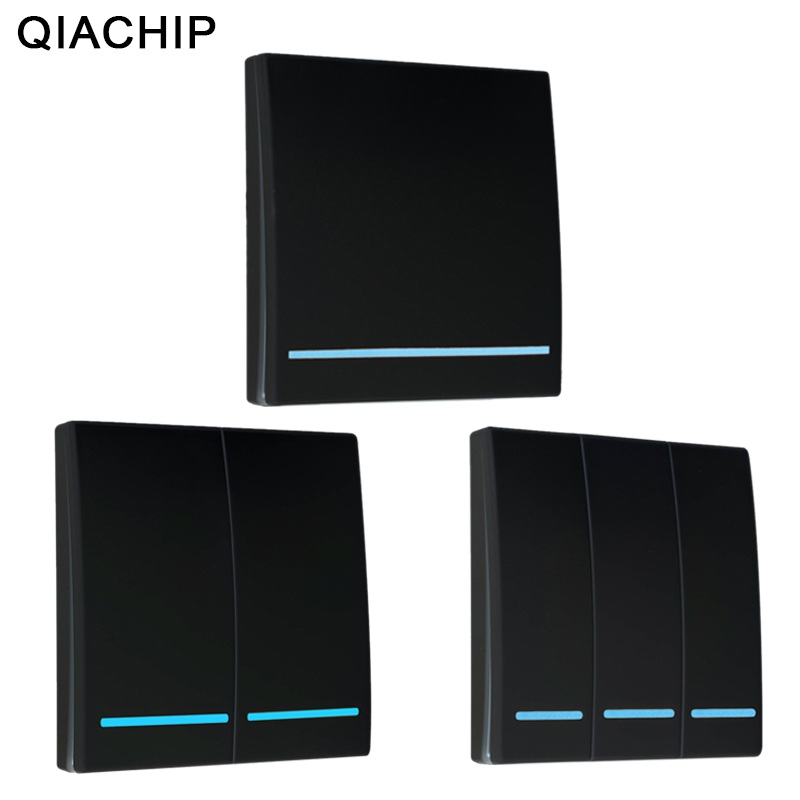 QIACHIP 433Mhz Wireless RF Remote Control Switch AC 110V 220V Lamp Light LED Wireless Switches Corridor Room Wall Panel Switch-in Switches from Lights & Lighting