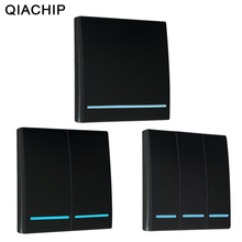 QIACHIP Interruptor de Control remoto inalámbrico RF, 433Mhz, CA 110V 220V, lámpara LED, interruptores inalámbricos, interruptor de Panel de pared de habitación y pasillo