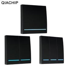 Qiachip 433Mhz Draadloze Rf Afstandsbediening Schakelaar Ac 110V 220V Lamp Licht Led Draadloze Schakelaars Gang Kamer wall Panel Switch