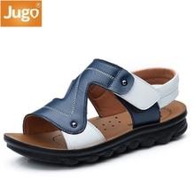 d61e52d58b60 2018 sommer Strand Jungen Sandalen Kinder Echtem Leder Schuhe Mode Sport Sandale  Kinder Sandalen Für Jungen