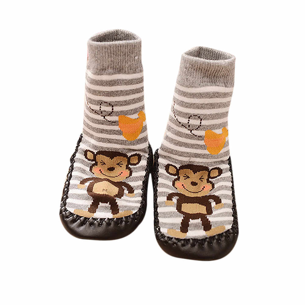 1 Pair Socks Newborn Toddler Indoor Floor Shoes Anti Slip Baby Socks Learning To Walk Cotton Baby Socks With Rubber Soles