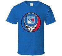 Katoen Mannen t-shirt T-Shirt Bandit Dankbaar New York Stelen Uw Gezicht dode Rangers Hockeyer T-shirt Man T-shirt Ronde Kraag Tees