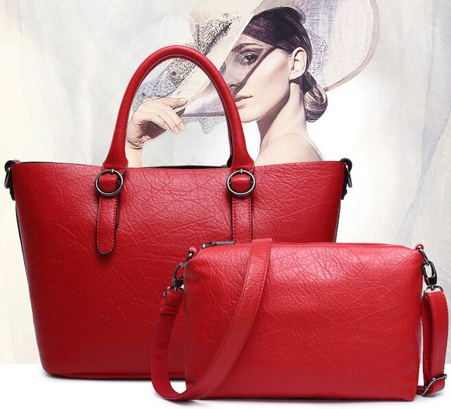 Supper Red Composite Bags Women Bag Commuter font b Handbags b font Office Toes Women Messenger