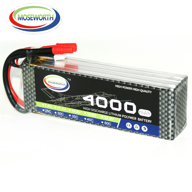 MOSEWORTH RC Lipo Battery 14.8v 4S 35C 4000mAh для RC - Радиоуправляемые игрушки