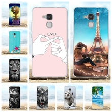 For Huawei Honor 5C Case Ultra-thin Soft TPU Silicone 7 Lite Cover Animal Patterned GT3 Coque Bag