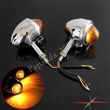Хром мотоциклов поворотники индикаторная лампа мигалка янтарный свет для BMW M1 M72 R12 R75 R71 K750 KS KS750, коляской