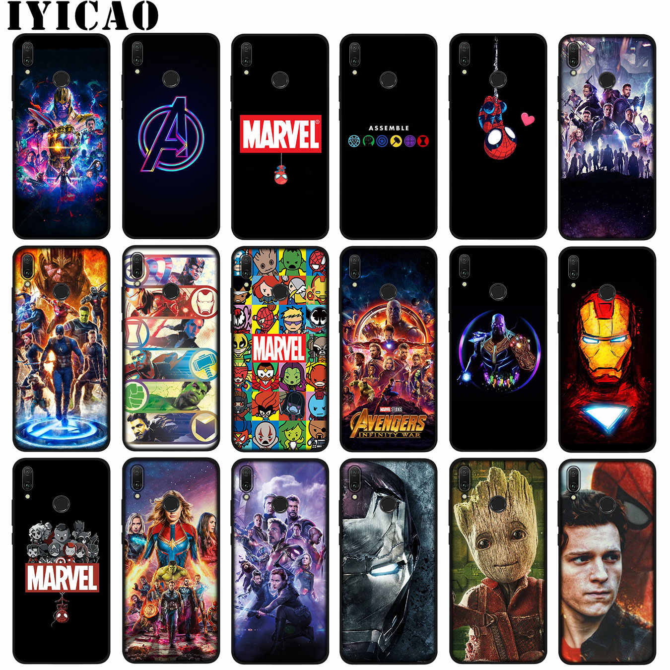 Avengers Endgame Marvel Avengers Iron Man Thanos Soft Case untuk Huawei P30 P20 Pro P10 P9 Lite Mini P Smart Z 2019 Tom Holland