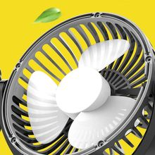 Portable Car Fan Universal Electric Double Head Shaking Small Usb Interface Electrical Multifunction