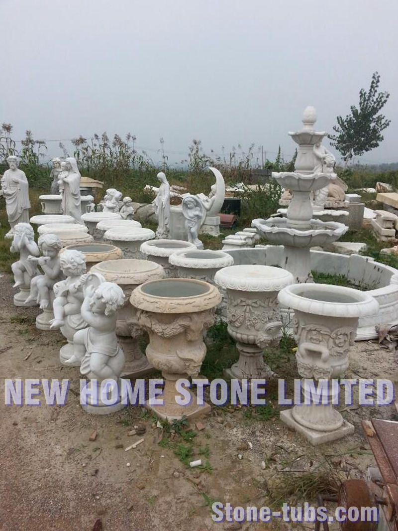 M rmol natural talladas jard n urnas y jardineras - Jardin decoracion exterior ...