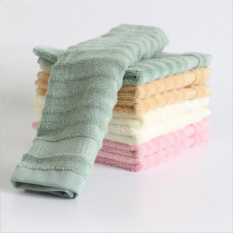 10pcs 34x34cm super soft bamboo fiber kids face towel slub yarn healthy hand towel for children gift decorative bathroom towels - Decorative Hand Towels