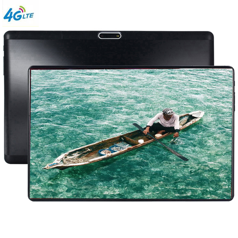2.5D Glass Screen GPS Tablets Android 9.0 Octa Core Ram 6GB ROM 64GB 10.1 Inch 5MP Dual SIM Tablet PC Wifi GPS Bluetooth