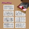 7 unids DIY Manicura Plantilla Placas de contraste de Uñas Diseño de Uñas de Arte Que Estampa la Placa de Imagen Raspador Stamper Kits de Encaje Floral de La Mariposa