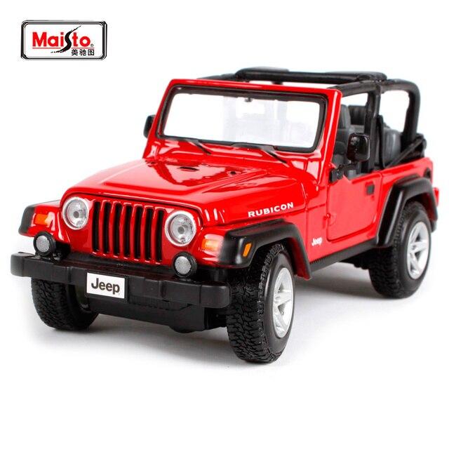 Maisto 1 27 Jeep Wrangler Rubicon Suv Cast Model Car Toy New In Box Free Shipping 31245