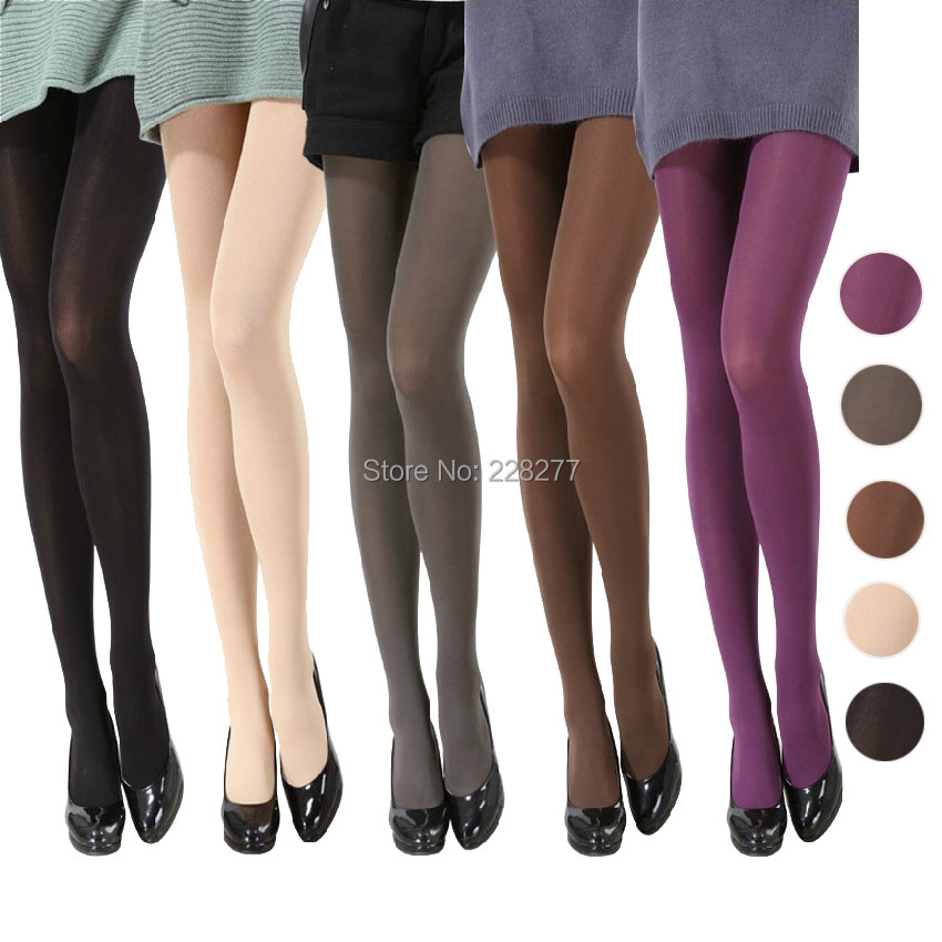 2018 Spring Fashion Woman 80D All-Match Super Pantyhose Velvet Candy Color Socks multi Colors bamboo fiber