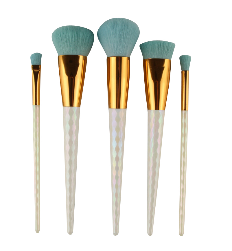 5pcs Makeup honeycomb handle Brushes Set Cosmetic Foundation Eyshadow Blusher Powder Blending Smooth Brush beauty tools