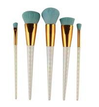 5pcs Makeup honeycomb handle Brushes Set Cosmetic Foundation Eyshadow Blusher Powder Blending Smooth Brush beauty tools kits